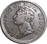 1 Penny Token - George IV (counterfeit) – obverse