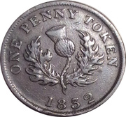 1 Penny Token - George IV (counterfeit) – reverse