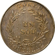 Sou (Birmingham - 39 laurel leaves / 3 shamrocks / French Obv.) – reverse