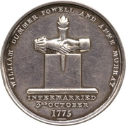 Medal - William Dummer Powell and Anne Murray, Golden Wedding (Upper Canada) – obverse