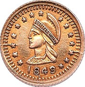 ¼ Dollar (British Administration) – obverse