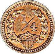 ¼ Dollar (British Administration) – reverse
