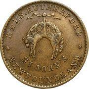 "½ Penny - Rutherford (""St John's"") – reverse"