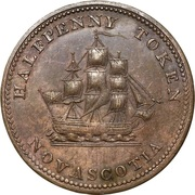 ½ Penny (Starr & Shannon) – reverse