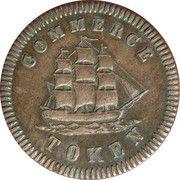 ½ Penny  (Commerce Token - Francis Mullins) – obverse