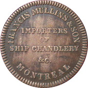 ½ Penny  (Commerce Token - Francis Mullins) – reverse