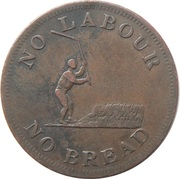 ½ Penny - Perrins Bros (speed the Plough - No labour, No bread) – obverse