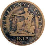 ½ Penny (Imitation Tiffin Token) – reverse
