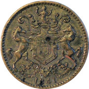 """½ Penny - Rutherford (""""St John's"""") – obverse"""