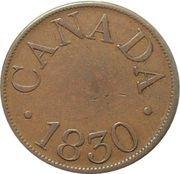 ½ Penny (James Duncan Token) – obverse