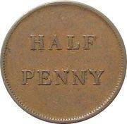 ½ Penny (James Duncan Token) – reverse
