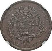 1 Penny / 2 Sous (Bank of Montreal) – reverse