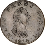 ½ Penny Token (Convenience of Trade) – obverse