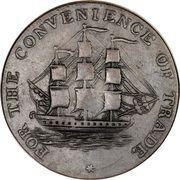 ½ Penny Token (Convenience of Trade) – reverse