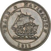 "½ Penny (""Trade & Navigation"" Token) – obverse"