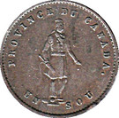 ½ Penny / 1 Sou (Quebec Bank Token) – obverse