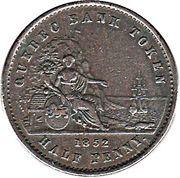 ½ Penny / 1 Sou (Quebec Bank Token) – reverse