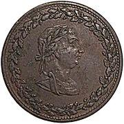 ½ Penny (Tiffin Token - Copper) – obverse