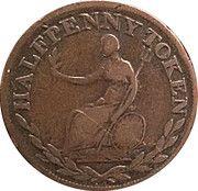 ½ Penny - (Field Marshal Wellington - Large legend letters) – reverse