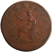 ½ Penny Token (Marquis Wellington) – reverse