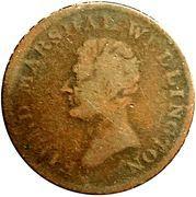 ½ Penny Token (Field Marshal Wellington - Hibernia) – obverse