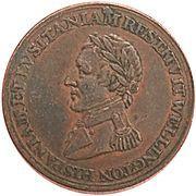 ½ Penny (Wellington Peninsular token to Salamanca) – obverse