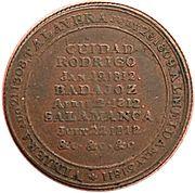 ½ Penny (Wellington Peninsular token to Salamanca) – reverse