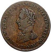 ½ Penny (Wellington Peninsular token to Pampluno) – obverse