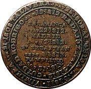 ½ Penny (Wellington Peninsular token to Pampluno) – reverse