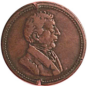 ½ Penny - Wellington Waterloo (Large Bust design) – obverse