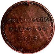 ½ Penny - Wellington Waterloo (Large Bust design) – reverse