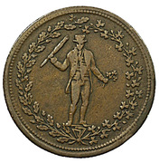 ½ Penny (Pure copper preferable to paper) – obverse