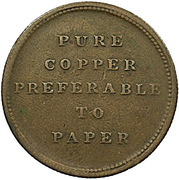 ½ Penny (Pure copper preferable to paper) – reverse
