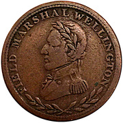 ½ Penny Token (Field Marshal Wellington - Britannia) – obverse