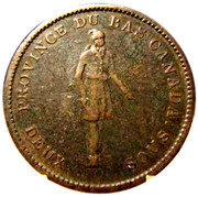 1 Penny / 2 Sous (City Bank) – obverse