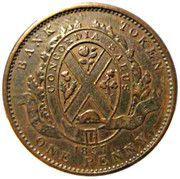 1 Penny / 2 Sous (City Bank) – reverse