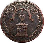 ½ Penny (Sir Issac Brock) – obverse