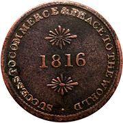 ½ Penny (Sir Issac Brock) – reverse