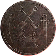 ½ Penny (T.S. Brown & Co) – obverse