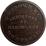 ½ Penny (T.S. Brown & Co) – reverse