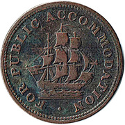 ½ Penny (Canada - For public accommodation) – obverse