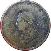 ½ Penny - George Ords (Bust & Harp) – obverse