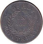 ½ Penny - J. Roy Montreal token – reverse