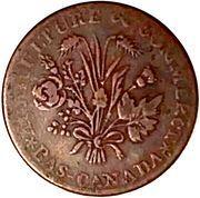 1 Sou (Banque du Peuple - Sou of the Rebellion) – obverse