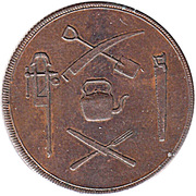 ½ Penny (J. Shaw) – obverse