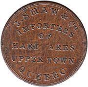 ½ Penny (J. Shaw) – reverse