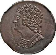 ½ Penny - (Imitation Bust and Harp) – obverse