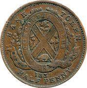 "½ Penny / 1 Sou (""BANK OF MONTREAL"") – reverse"