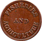 ½ Penny (Fisheries & Agriculture) – reverse
