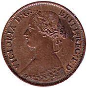 ½ Cent - Victoria – obverse